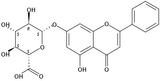 白杨素-7-O-葡萄糖醛酸苷(Chrysin 7-O-beta-D-glucopyranuronoside)